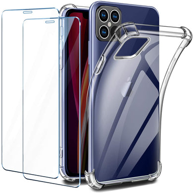 BESINPO Coque iPhone 12 Pro Max Antichoc Transparente 360 Degrés  Protection avec TPU Protection Écran Anti-Rayures Integrale Case Etui  Housse Compatible avec iPhone 12 Pro Max 2020 (67