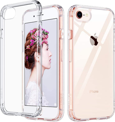 ULAK Coque iPhone Se 2020 Coque iPhone 8 Coque iPhone 7 Transparente TPU  Bumper Gel Etui Housse Antichoc Protection Coque pour Apple iPhone Se 2020  / iPhone 8 / iPhone 7 47 Pouces Transparente