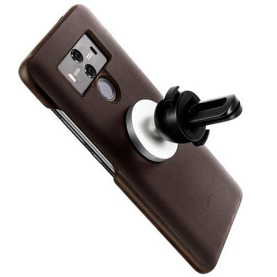 Coque Huawei Mate 10 Pro d'Origine Protection Cuir marron + Support Voiture