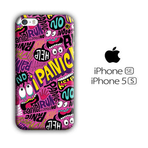 Doodle Don't Be Panic iPhone 5 | 5s 3D coque custodia fundas - Coque Iphone 11√coque samsung S8+√coque huawei P30 roccoscope.fr
