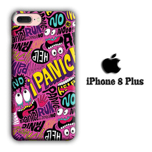 Doodle Don't Be Panic iPhone 8 Plus 3D coque custodia fundas - Coque Iphone 11√coque samsung S8+√coque huawei P30 roccoscope.fr