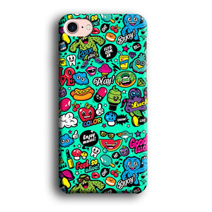 Doodle Glowing The Day iPhone 7 3D coque custodia fundas - Coque Iphone 11√coque samsung S8+√coque huawei P30 roccoscope.fr