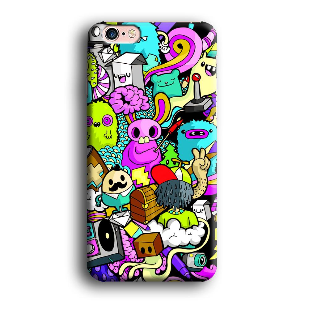 Doodle Imagination Arts iPhone 6 Plus | 6s Plus 3D coque custodia fundas - Coque Iphone 11√coque samsung S8+√coque huawei P30 roccoscope.fr