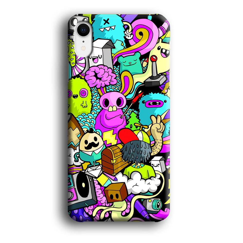 Doodle Imagination Arts iPhone XR 3D coque custodia fundas - Coque Iphone 11√coque samsung S8+√coque huawei P30 roccoscope.fr