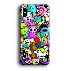 Doodle Imagination Arts iPhone Xs 3D coque custodia fundas - Coque Iphone 11√coque samsung S8+√coque huawei P30 roccoscope.fr