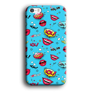 Doodle Kiss Comic iPhone 5 | 5s 3D coque custodia fundas - Coque Iphone 11√coque samsung S8+√coque huawei P30 roccoscope.fr