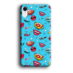 Doodle Kiss Comic iPhone XR 3D coque custodia fundas - Coque Iphone 11√coque samsung S8+√coque huawei P30 roccoscope.fr