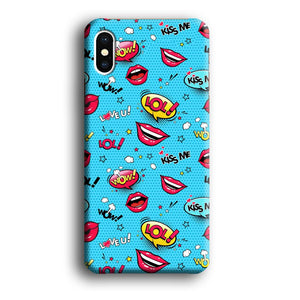 Doodle Kiss Comic iPhone Xs 3D coque custodia fundas - Coque Iphone 11√coque samsung S8+√coque huawei P30 roccoscope.fr