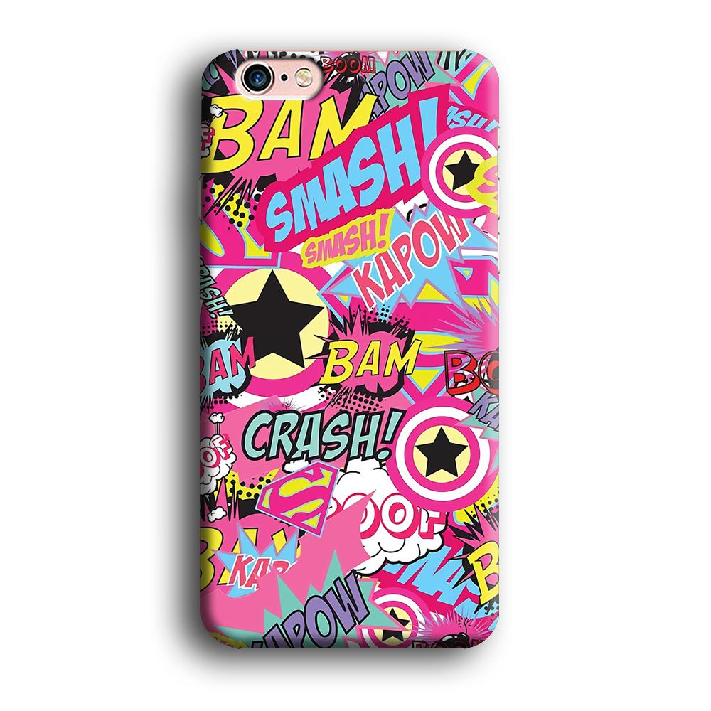 Doodle Smash and Crash iPhone 6 Plus | 6s Plus 3D coque custodia fundas - Coque Iphone 11√coque samsung S8+√coque huawei P30 roccoscope.fr
