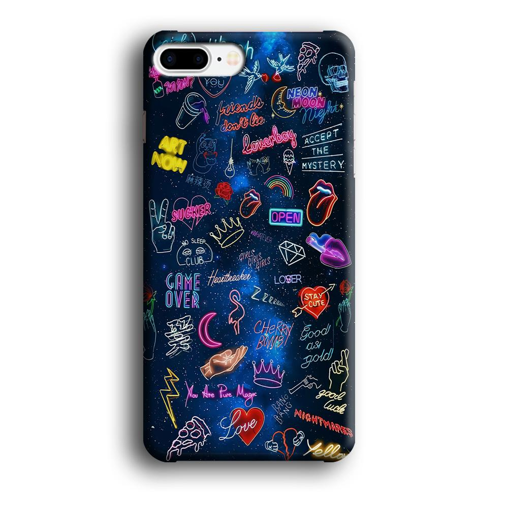 Doodle Space Every Where iPhone 7 Plus 3D coque custodia fundas - Coque Iphone 11√coque samsung S8+√coque huawei P30 roccoscope.fr