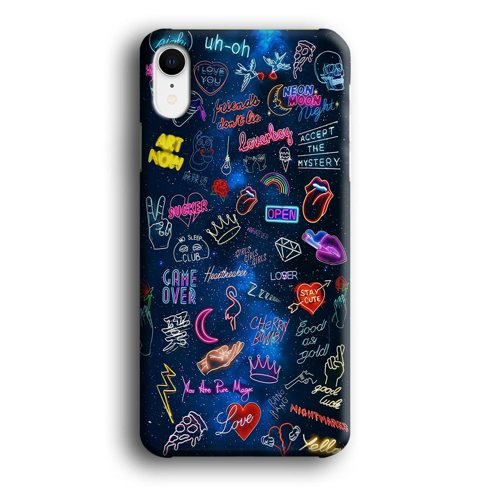 Doodle Space Every Where iPhone XR 3D coque custodia fundas - Coque Iphone 11√coque samsung S8+√coque huawei P30 roccoscope.fr