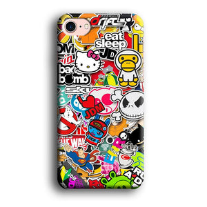 Doodle Sticker Collection iPhone 7 3D coque custodia fundas - Coque Iphone 11√coque samsung S8+√coque huawei P30 roccoscope.fr
