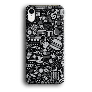 Doodle The Burger Beer iPhone XR 3D coque custodia fundas - Coque Iphone 11√coque samsung S8+√coque huawei P30 roccoscope.fr