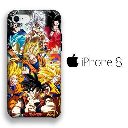 Dragon Ball Z Goku Phase iPhone 8 3D coque custodia fundas