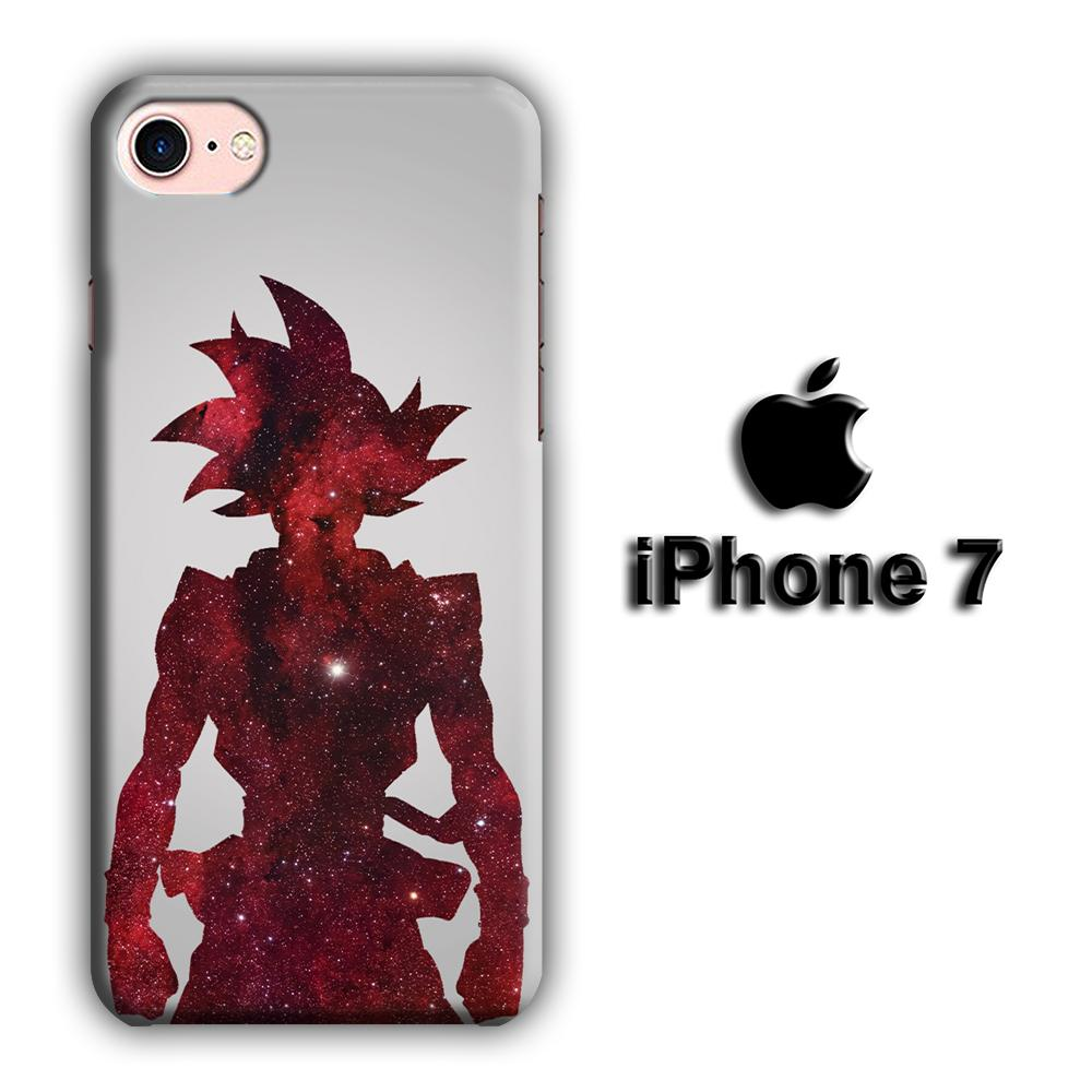 Dragon Ball Z Goku Red Silhouette iPhone 7 3D coque custodia fundas