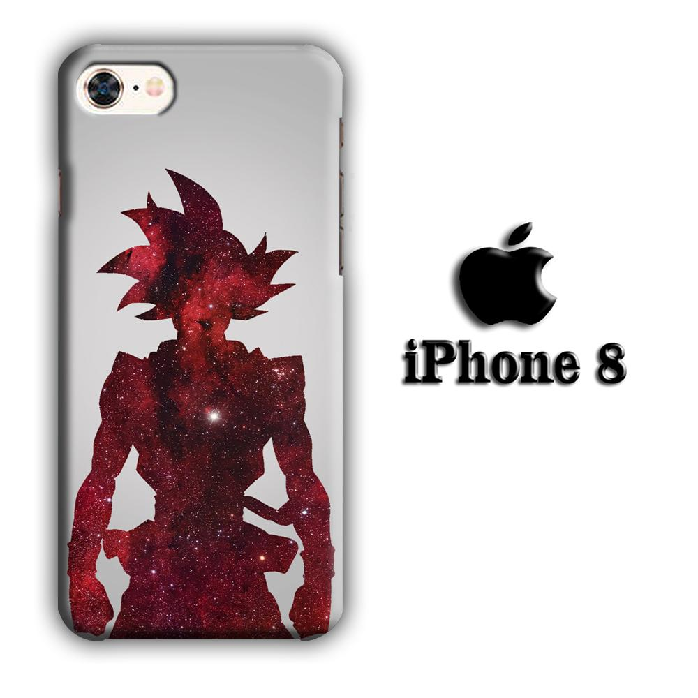 Dragon Ball Z Goku Red Silhouette iPhone 8 3D coque custodia fundas