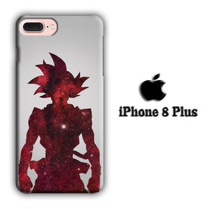 Dragon Ball Z Goku Red Silhouette iPhone 8 Plus 3D coque custodia fundas