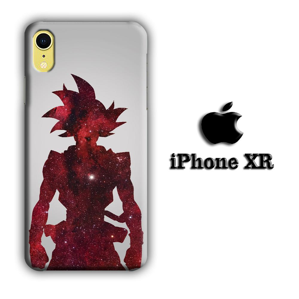 Dragon Ball Z Goku Red Silhouette iPhone XR 3D coque custodia fundas