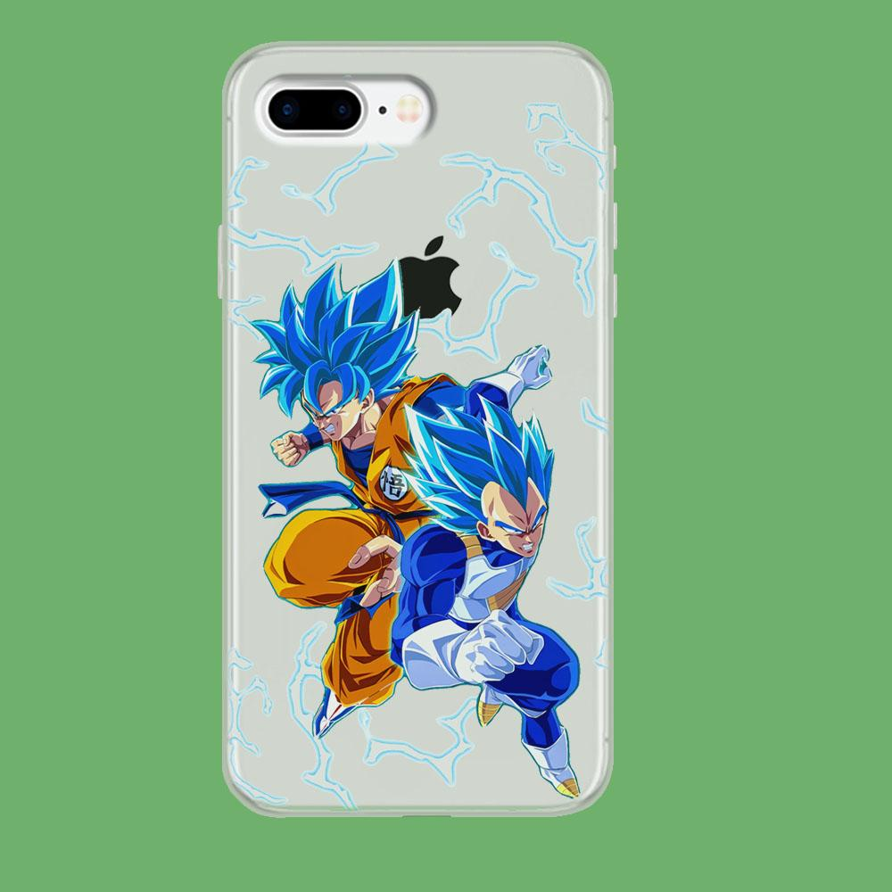 Dragon Ball Z Saiyan Blue iPhone 8 Plus Clear coque custodia fundas