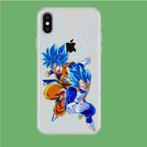 Dragon Ball Z Saiyan Blue iPhone X Clear coque custodia fundas