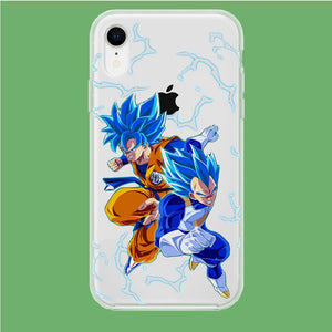 Dragon Ball Z Saiyan Blue iPhone XR Clear coque custodia fundas