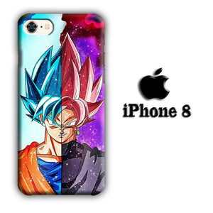 Dragon Ball Z Saiyan Blue to Rose iPhone 8 3D coque custodia fundas