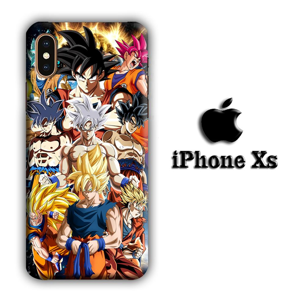 Dragon Ball Z Saiyan Transformation iPhone Xs 3D coque custodia fundas