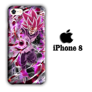Dragon Ball Z Super Saiyan Rose iPhone 8 3D coque custodia fundas