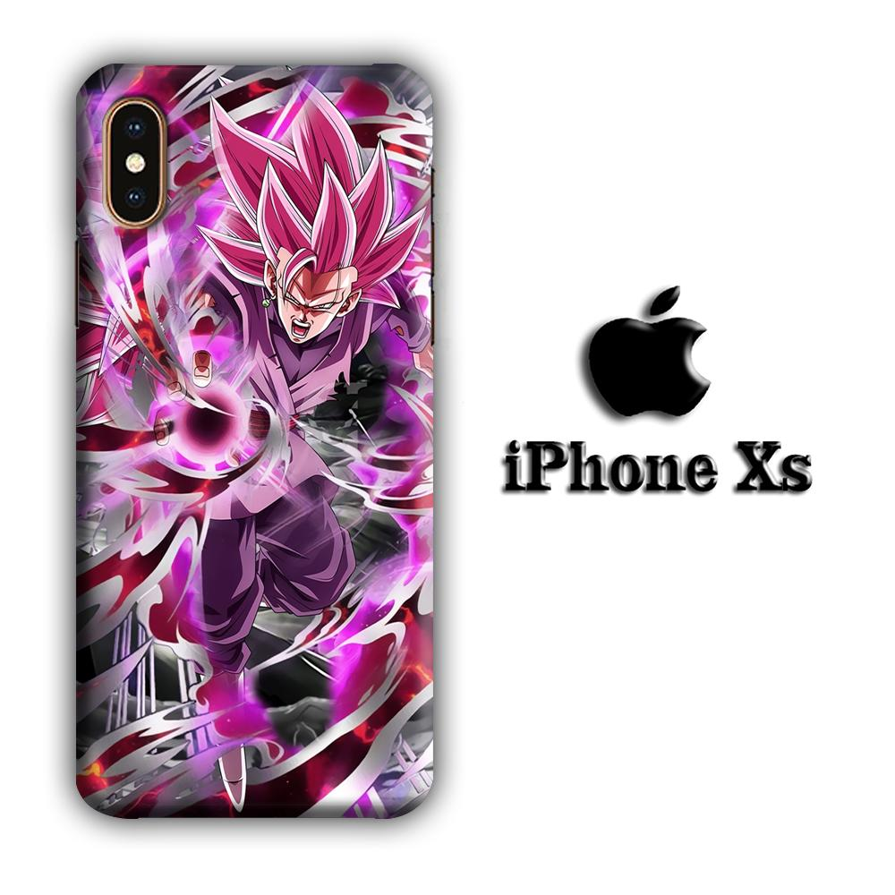 Dragon Ball Z Super Saiyan Rose iPhone Xs 3D coque custodia fundas