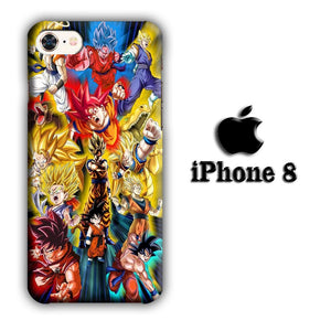 Dragon Ball Z The Power iPhone 8 3D coque custodia fundas
