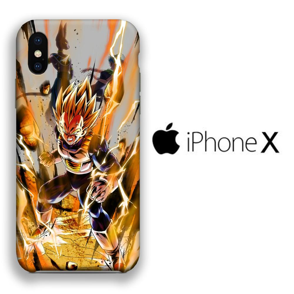 Dragon Ball Z Vegeta Fight iPhone X 3D coque custodia fundas