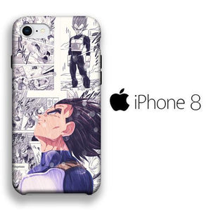 Dragon Ball Z Vegeta iPhone 8 3D coque custodia fundas