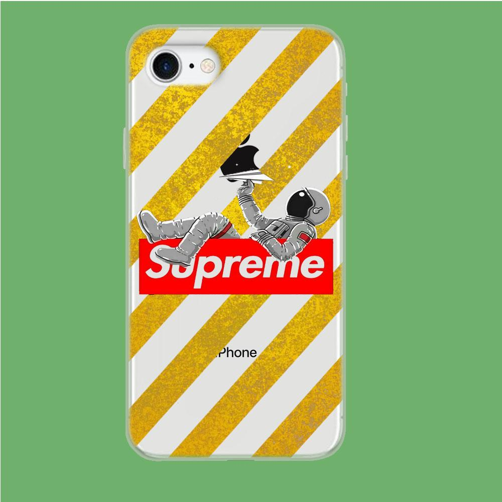 Enjoy Supreme Space coque iPhone 8 Clear