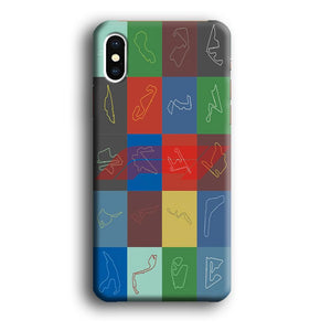 F1 Ferrari Calendar of Season iPhone Xs 3D coque custodia fundas