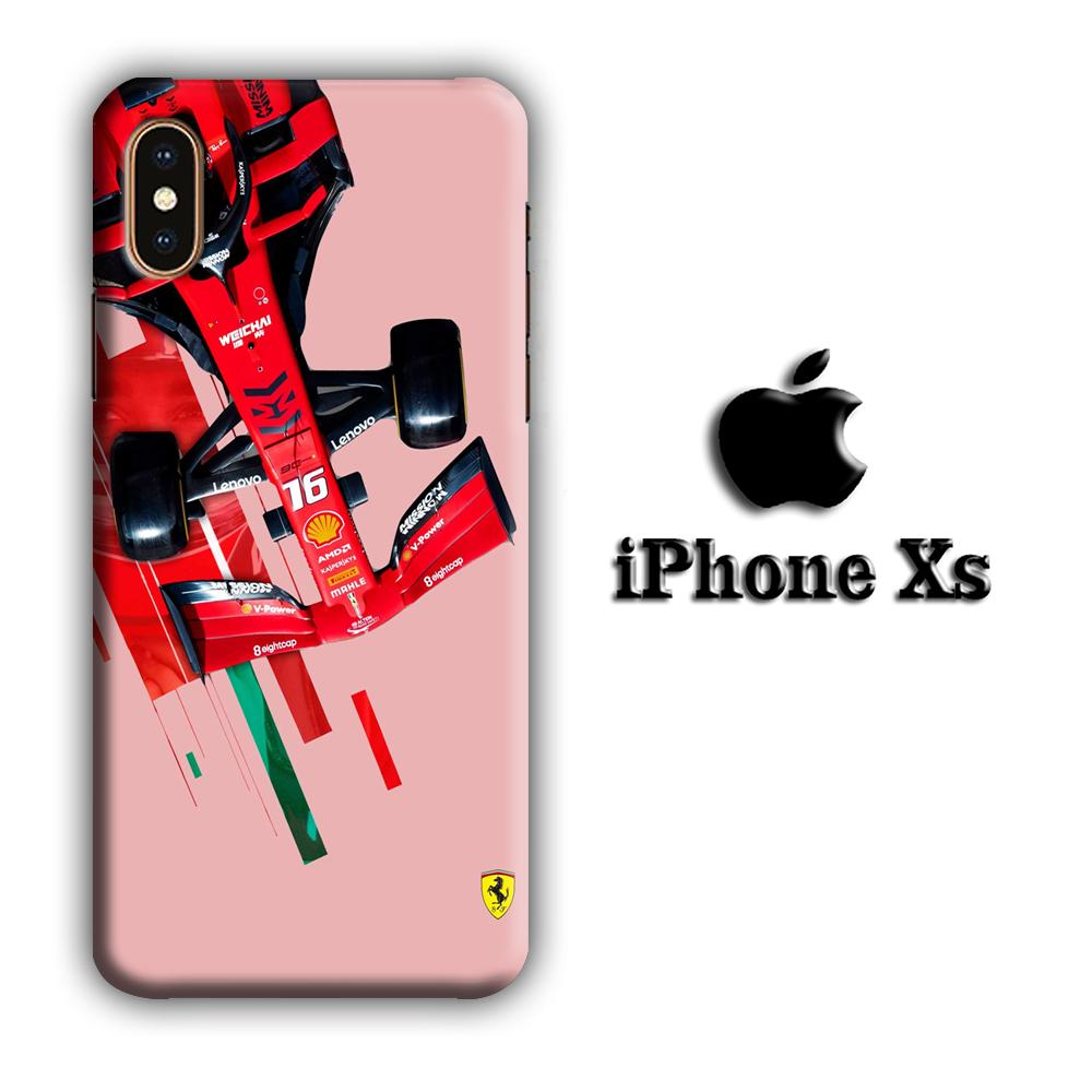 F1 Ferrari Racing Raider iPhone Xs 3D coque custodia fundas