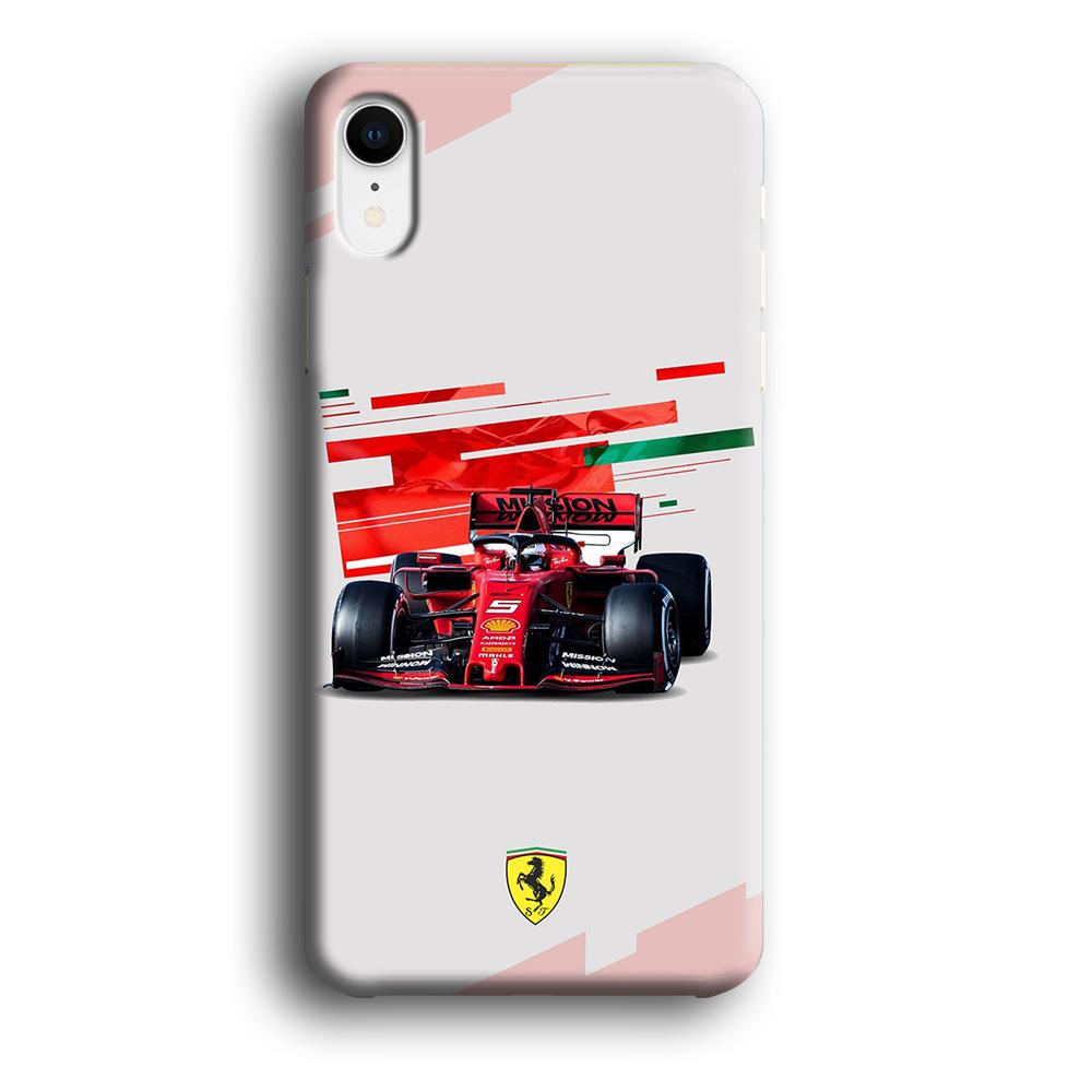 F1 Ferrari Vettel iPhone XR 3D coque custodia fundas