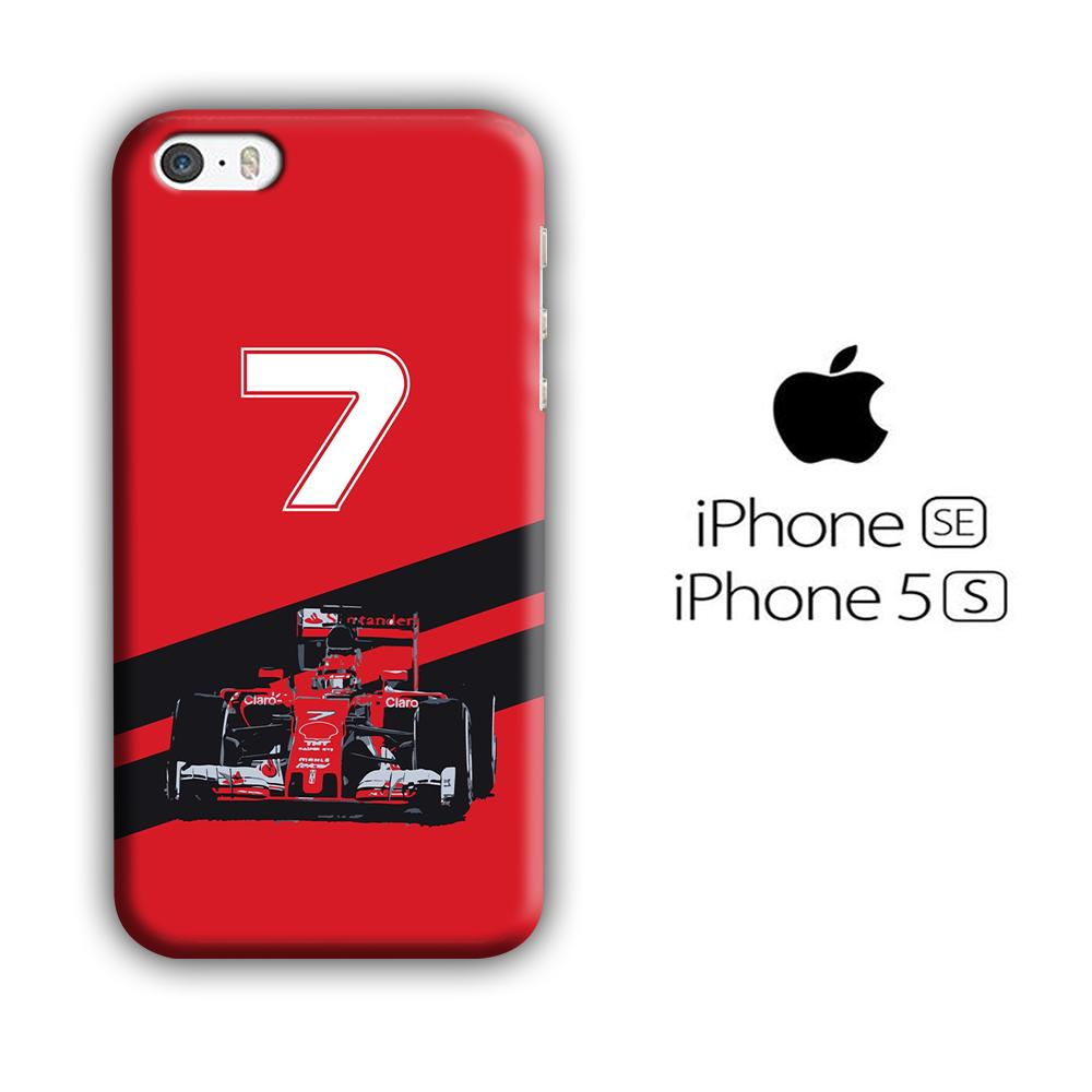 F1 Kimi Raikkonen iPhone 5 | 5s 3D coque custodia fundas