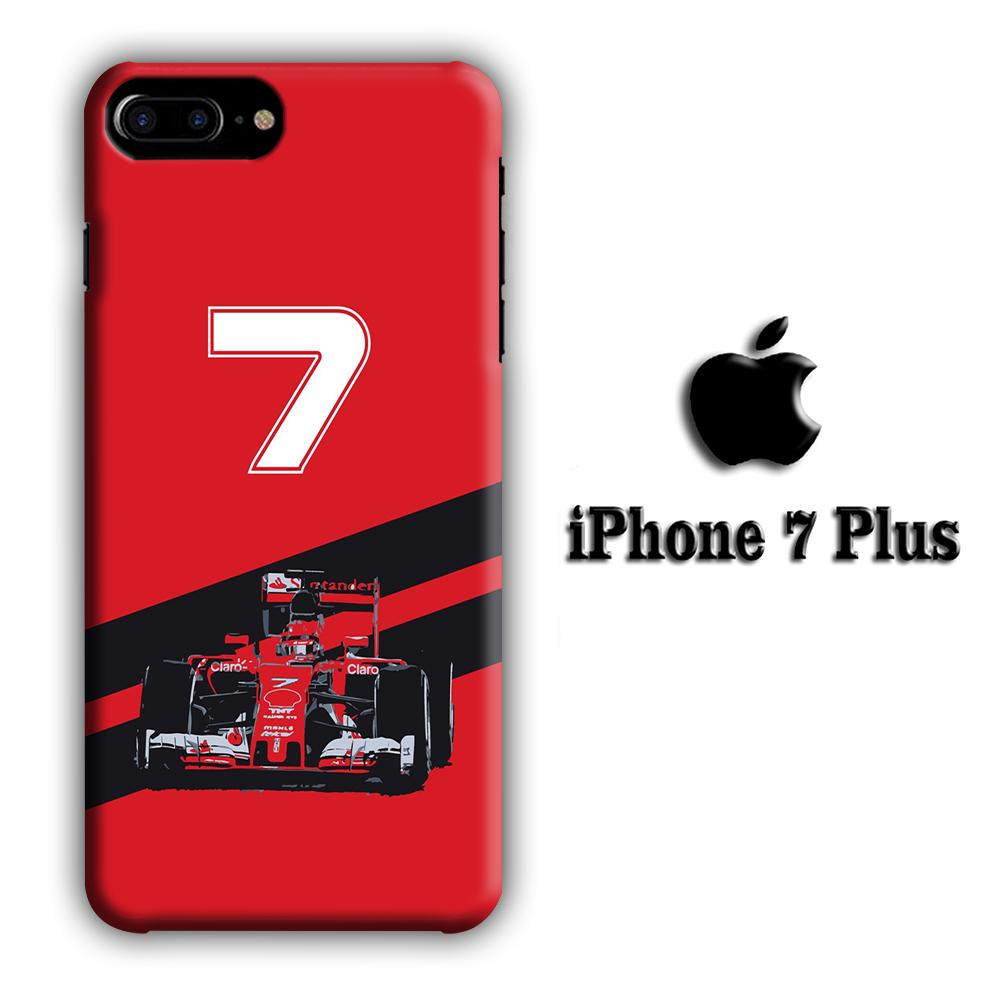 F1 Kimi Raikkonen iPhone 7 Plus 3D coque custodia fundas