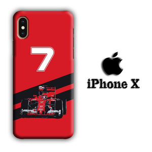 F1 Kimi Raikkonen iPhone X 3D coque custodia fundas