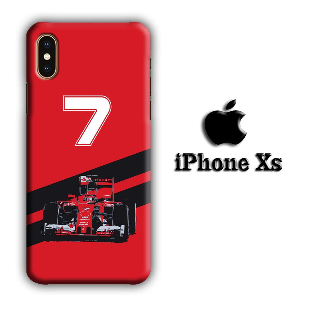 F1 Kimi Raikkonen iPhone Xs 3D coque custodia fundas
