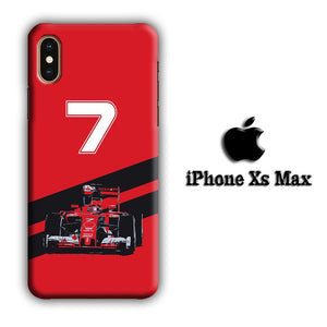F1 Kimi Raikkonen iPhone Xs Max 3D coque custodia fundas