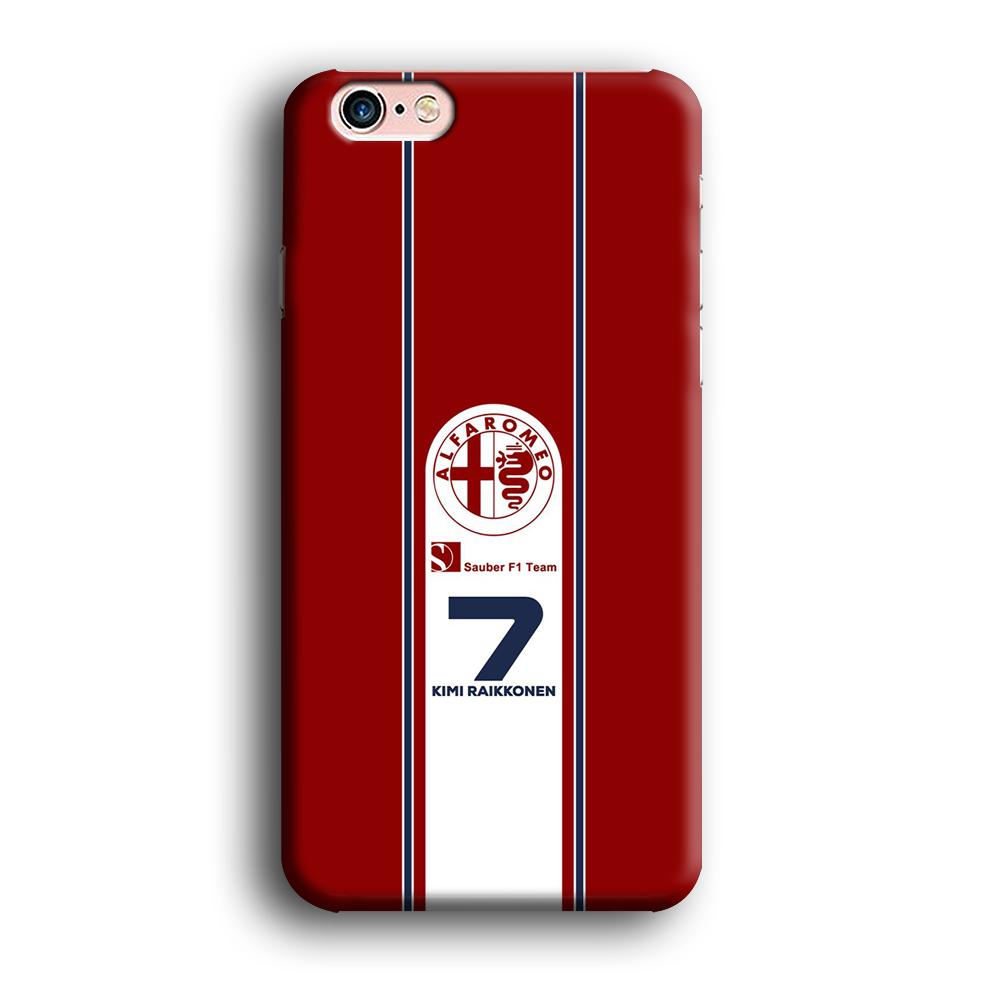 F1 Sauber Kimi Raikonen iPhone 6 Plus | 6s Plus 3D coque custodia fundas