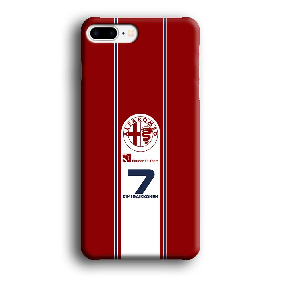 F1 Sauber Kimi Raikonen iPhone 7 Plus 3D coque custodia fundas