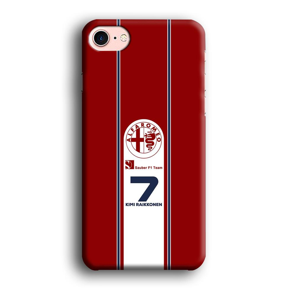 F1 Sauber Kimi Raikonen iPhone 8 3D coque custodia fundas