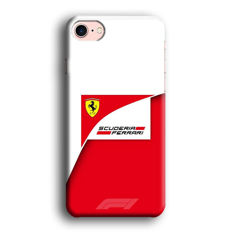F1 Scuderia Ferrari iPhone 8 3D coque custodia fundas