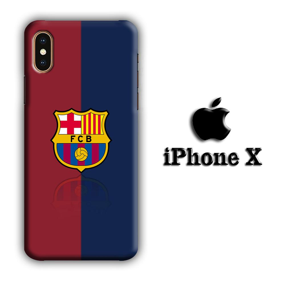 FC Barcelona 08-09 iPhone X 3D coque custodia fundas
