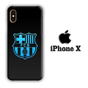 FC Barcelona Glowing Star iPhone X 3D coque custodia fundas