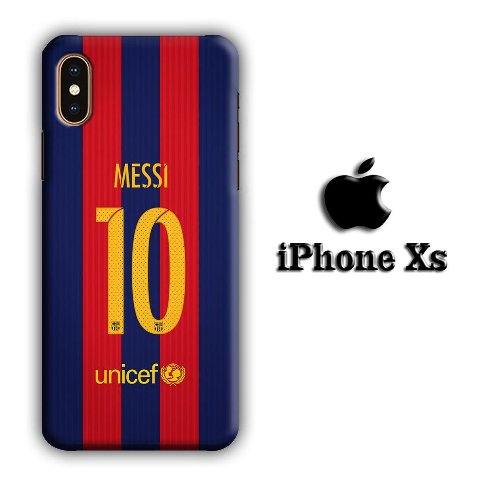 FC Barcelona La Pulga iPhone Xs 3D coque custodia fundas