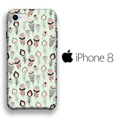 Feather Affable iPhone 8 3D coque custodia fundas