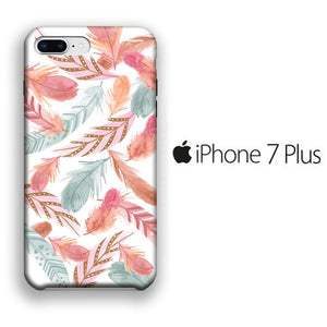 Feather Colour iPhone 7 Plus 3D coque custodia fundas